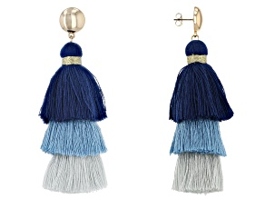 Off Park® Collection Blue Tassel Earrings