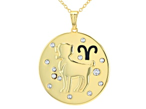 "Swarovski Elements ™ Gold Tone ""Aries"" Necklace"