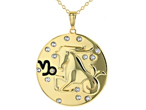 "Swarovski Elements ™ Gold Tone ""Capricorn"" Necklace"