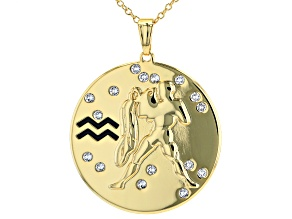 "Swarovski Elements ™ Gold Tone ""Aquarius"" Necklace"