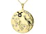 """White Crystal Gold Tone """"Taurus"""" Necklace"""