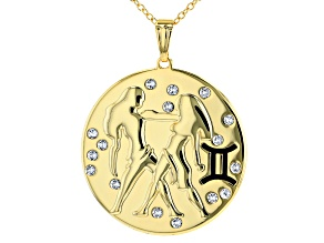 "Swarovski Elements ™ Gold Tone ""Gemini"" Necklace"