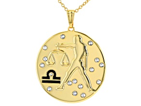 "Swarovski Elements ™ Gold Tone ""Libra"" Necklace"