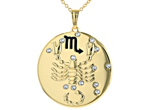 "Swarovski Elements ™ Gold Tone ""Scorpio"" Necklace"