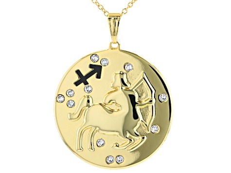 "Swarovski Elements ™ Gold Tone ""Sagittarius"" Necklace"