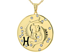 "Swarovski Elements ™ Gold Tone ""Pisces"" Necklace"