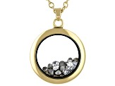 Colorless Swarovski Elements™  April Birthstone Gold Tone Necklace