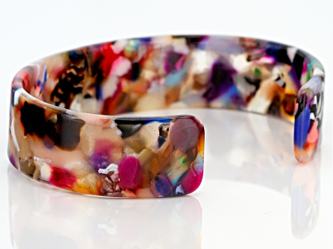 Multi-Color Resin Cuff Bracelet
