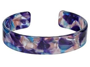 Blue Resin Cuff Bracelet