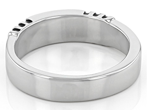 Stainless Steel & Silver Tone Mens Ring
