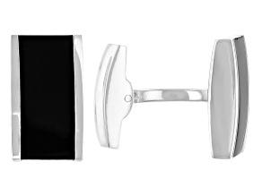 Stainless Steel & Silver Tone Mens Cufflinks