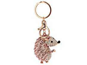 Crystal Hedgehog Keychain