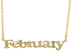 """Gold Tone """"February"""" Necklace"""