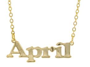 """Gold Tone """"April"""" Necklace"""