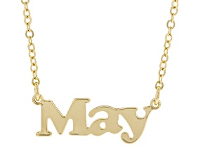 """Gold Tone """"May"""" Necklace"""