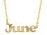"Gold Tone ""June"" Necklace"