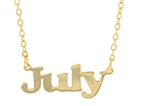 """Gold Tone """"July"""" Necklace"""