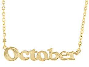 """Gold Tone """"October"""" Necklace"""