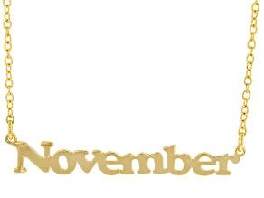 "Gold Tone ""November"" Necklace"