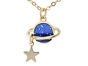 Gold Tone Planet Necklace
