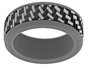 Gray Silicone Men Ring