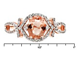 Peach Oregon Sunstone 10k Rose Gold Ring 1.35ctw