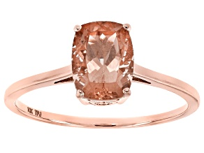 Peach Oregon Sunstone 10k Rose Gold Ring 1.25ct