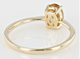 Peach Oregon Sunstone 10k Yellow Gold Ring .72ct