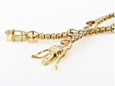 Peach Oregon Sunstone 10k Yellow Gold Bracelet 3.47ctw
