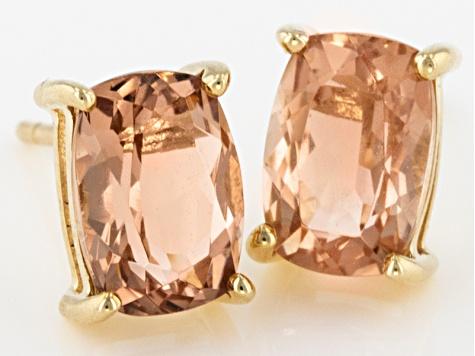 672655f78 Peach Oregon Sunstone 10k Yellow Gold Earrings 1.70ctw - OSN013 ...