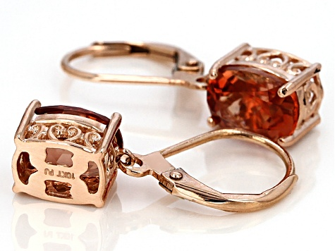 093f70b92 Orange Oregon Sunstone 10k Rose Gold Earrings 1.23ctw. - OSN016 ...