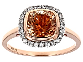 Orange Sunstone 10k Rose Gold Ring 1.90ctw.