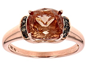 Orange Sunstone 10k Rose Gold Ring 2.39ctw