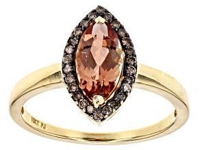 Organge Oregon Sunstone 10k Rose Gold Ring 1.14ctw