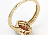 Organge Oregon Sunstone 10k Yellow Gold Ring 1.14ctw