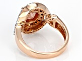 Orange Oregon Sunstone 10K rose gold ring 1.96ctw
