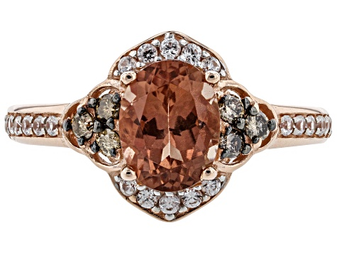 Orange Oregon Sunstone 10K rose gold ring  1.36ctw