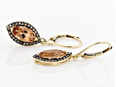Orange Oregon Sunstone 10K Yellow Gold Earrings 2.36ctw