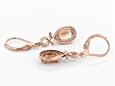 Orange Oregon Sunstone 10K rose gold earrings 1.67ctw