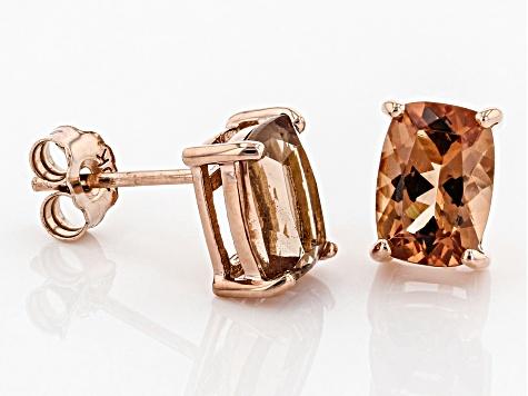 0a9b69089 Orange Oregon Sunstone 10K rose gold stud earrings 1.70ctw - OSN049 ...