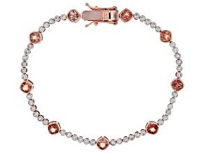 Orange Oregon Sunstone 10K rose gold bracelet 3.48ctw