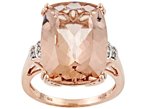 Pink Morganite 10k Rose Gold Ring 10.24ctw