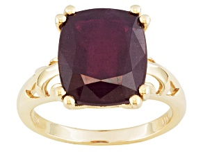 Mahaleo Ruby 10k Yellow Gold Ring 8.00ct