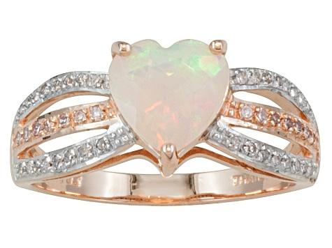 b54ff8fca6839 Ethiopian Opal 10k Rose Gold Ring .81ctw