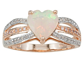 Ethiopian Opal 10k Rose Gold Ring .81ctw