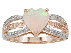 Ethiopian Opal 10k Rose Gold Ring .81ctw