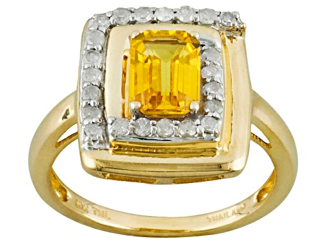 Yellow Sapphire 10k Yellow Gold Ring 1.13ctw