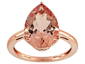 Morganite 10k Rose Gold Ring 4.00ctw