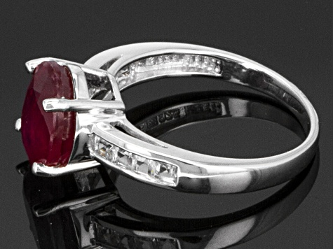Mahaleo Ruby Sterling Silver Ring 3.39ctw.