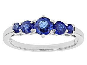 Blue Kyanite Sterling Silver Ring 1.04ctw.
